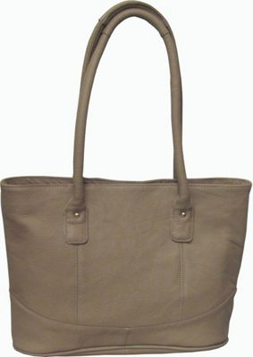 AmeriLeather Casual Leather Tote Beige - AmeriLeather Leather Handbags
