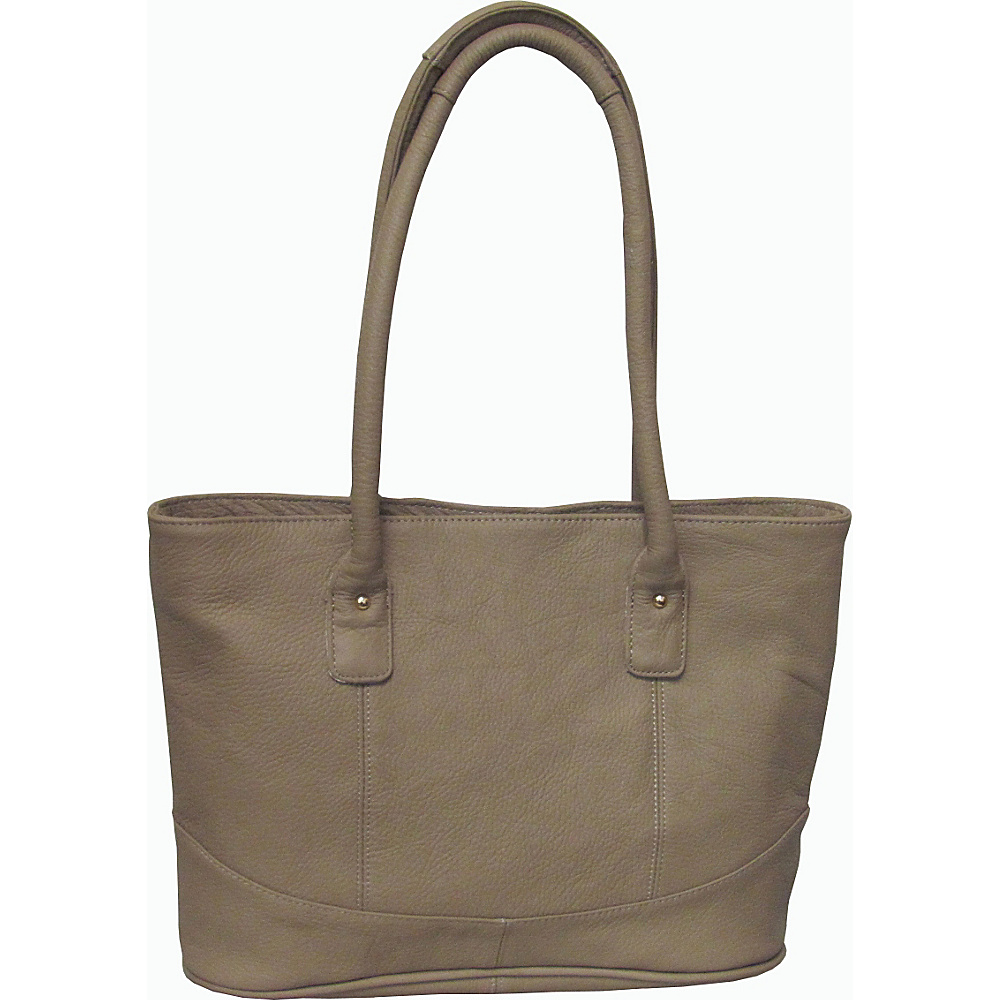 AmeriLeather Casual Leather Tote Beige - AmeriLeather Leather Handbags - Handbags, Leather Handbags