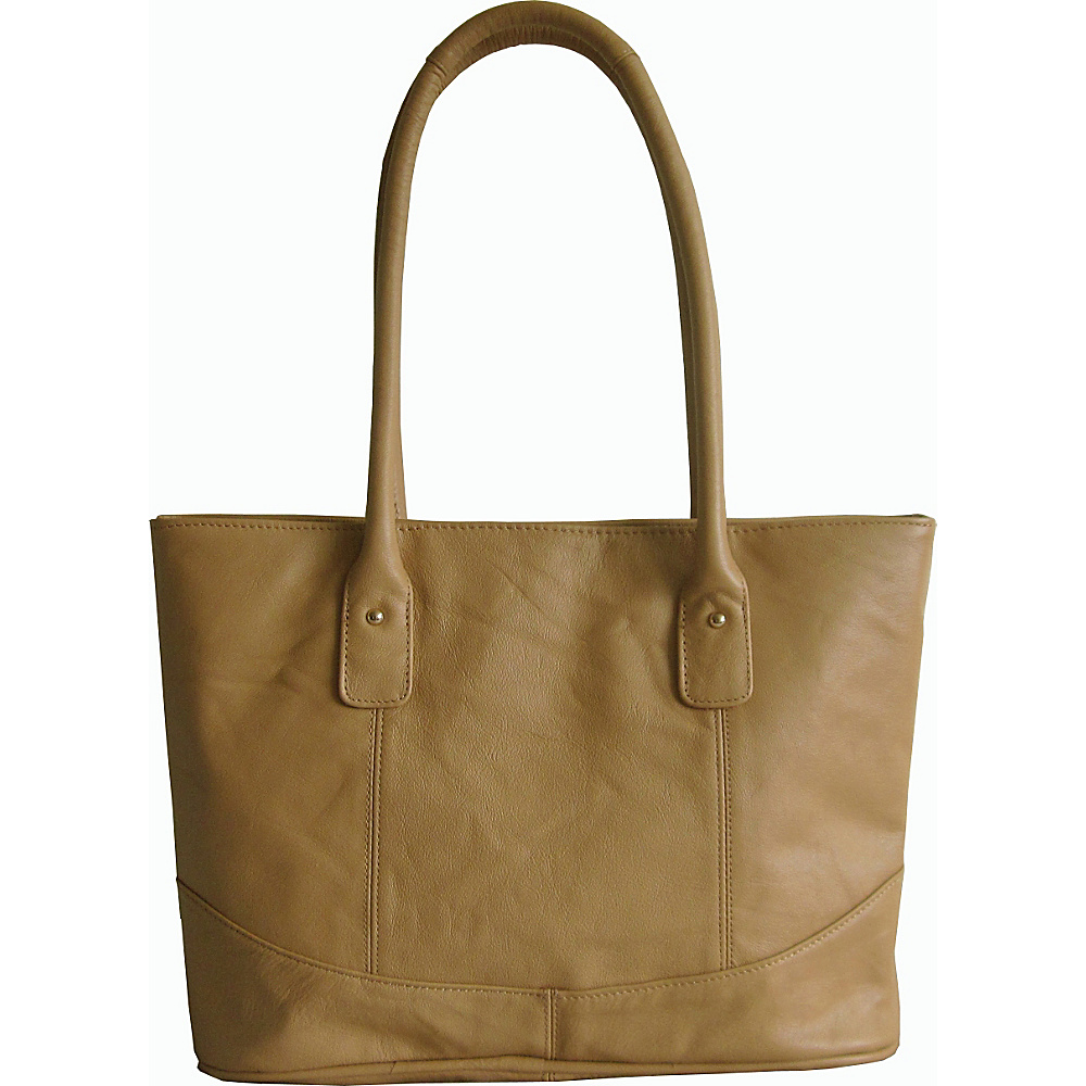 AmeriLeather Casual Leather Tote Tan - AmeriLeather Leather Handbags - Handbags, Leather Handbags