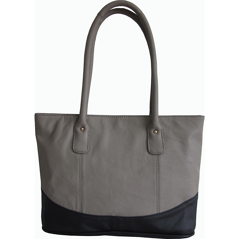 AmeriLeather Casual Leather Tote Sage/Black - AmeriLeather Leather Handbags - Handbags, Leather Handbags