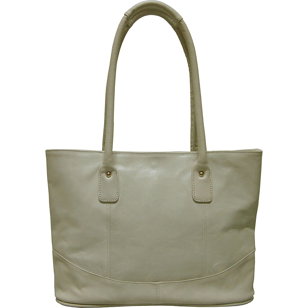 AmeriLeather Casual Leather Tote Pearl White - AmeriLeather Leather Handbags - Handbags, Leather Handbags