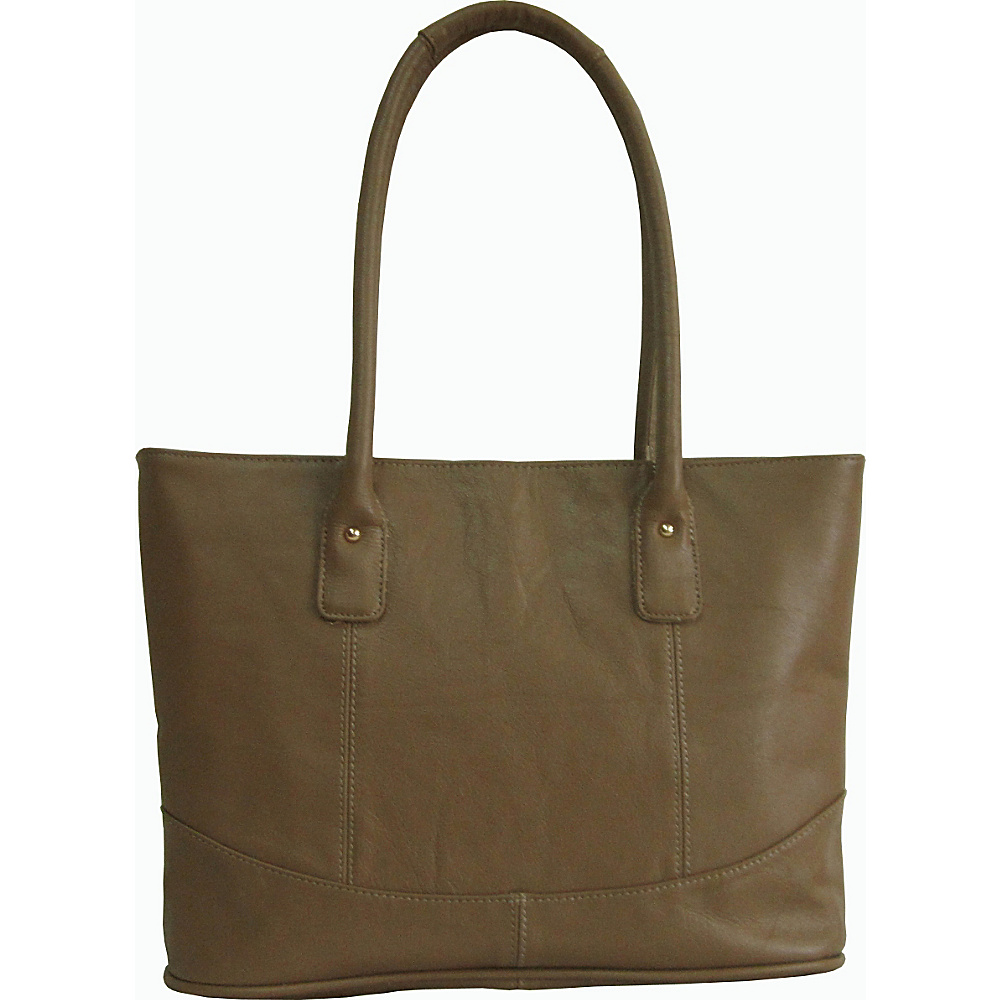 AmeriLeather Casual Leather Tote Taupe - AmeriLeather Leather Handbags - Handbags, Leather Handbags
