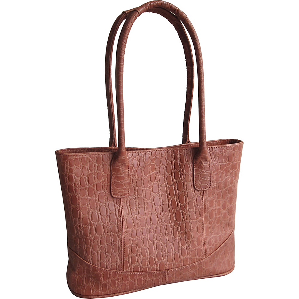 AmeriLeather Casual Leather Tote Brown Pebble-Print - AmeriLeather Leather Handbags - Handbags, Leather Handbags