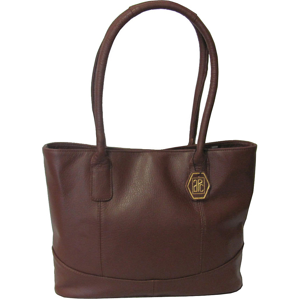 AmeriLeather Casual Leather Tote - Brown - Handbags, Leather Handbags