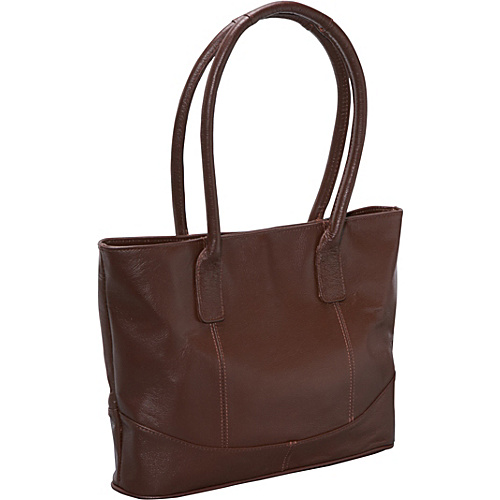 AmeriLeather Casual Leather Tote - Brown