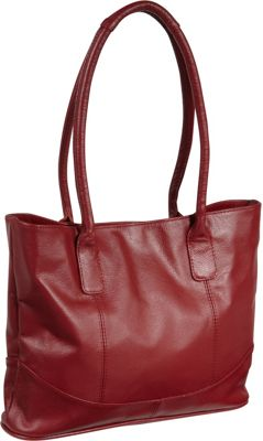 AmeriLeather Casual Leather Tote Red - AmeriLeather Leather Handbags