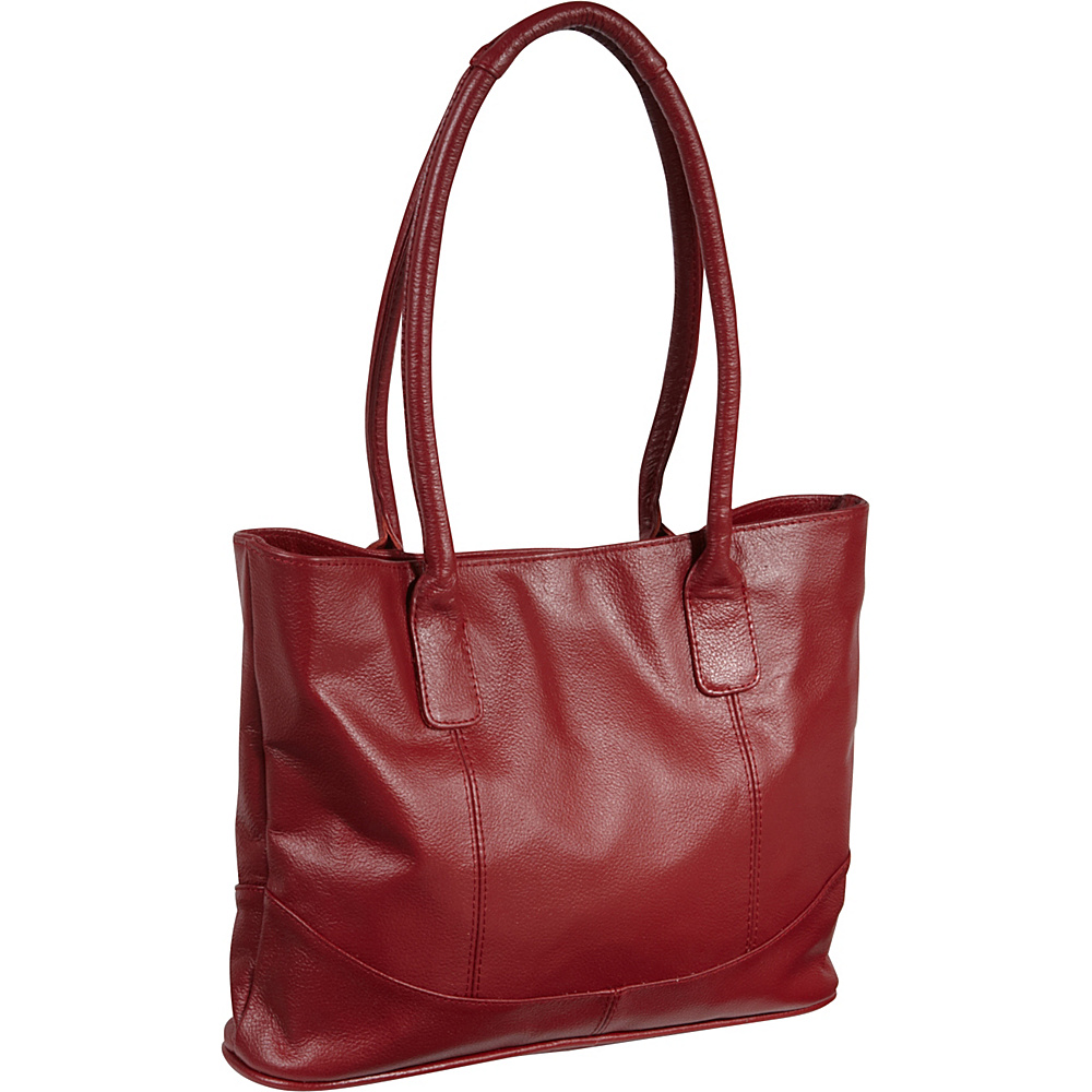 AmeriLeather Casual Leather Tote Red - AmeriLeather Leather Handbags - Handbags, Leather Handbags