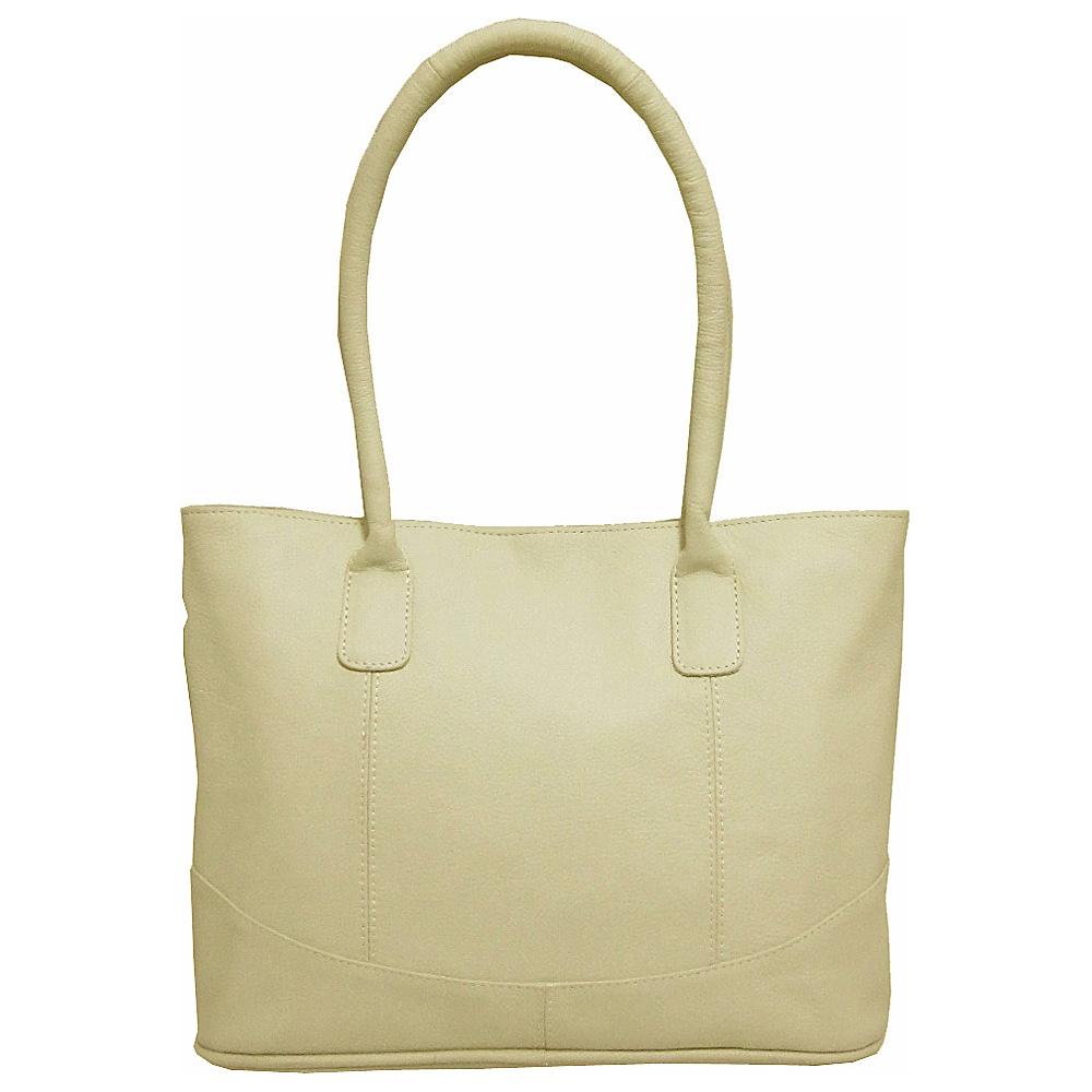 AmeriLeather Casual Leather Tote Off White - AmeriLeather Leather Handbags - Handbags, Leather Handbags