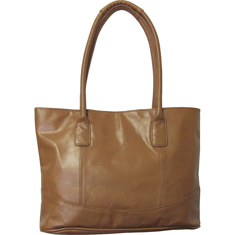 AmeriLeather Casual Leather Tote Camel - AmeriLeather Leather Handbags - Handbags, Leather Handbags