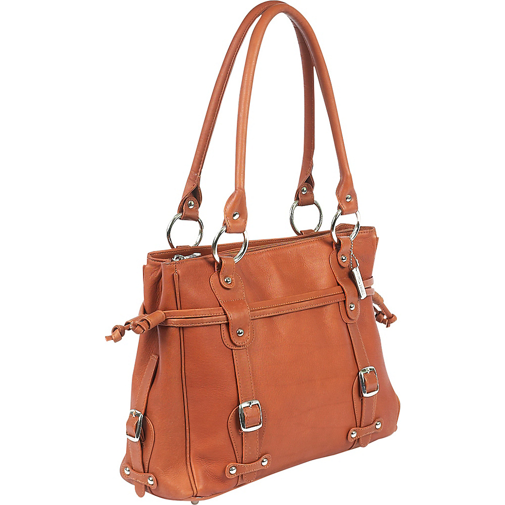 ClaireChase Catalina Laptop Handbag - Saddle - Work Bags & Briefcases, Women's Business Bags