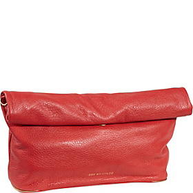 Annette Clutch With Removable Strap Coral