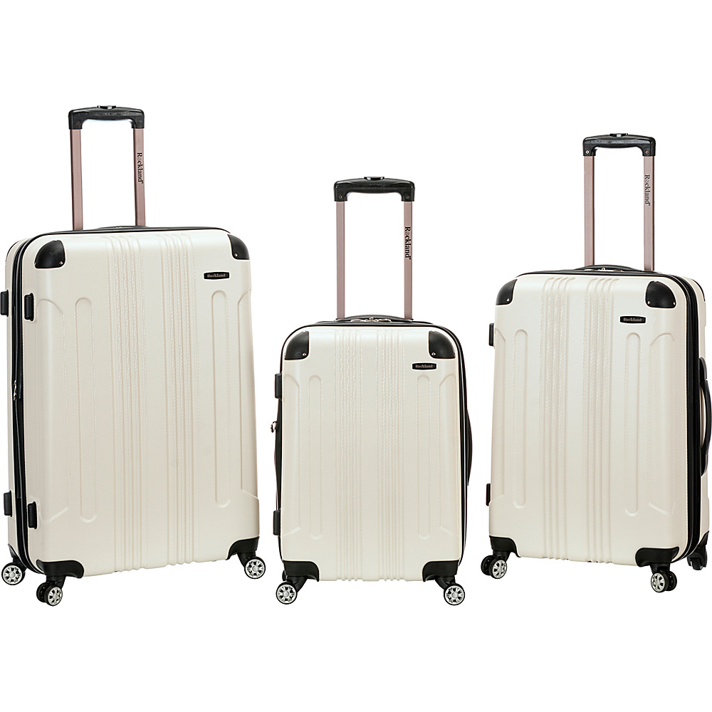 Rockland Luggage Sonic 3 Piece Hardside Spinner Set White Rockland Luggage Luggage Sets
