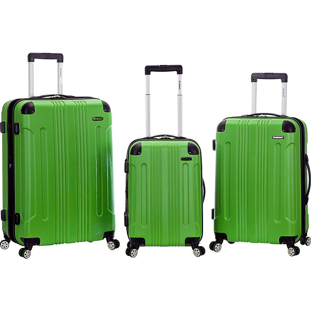 Rockland Luggage Sonic 3 Piece Hardside Spinner Set Green Rockland Luggage Luggage Sets