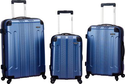Rockland Luggage London 3-Piece Hardside Spinner Luggage Set Blue - Rockland Luggage Luggage Sets