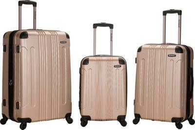 Rockland Luggage London 3-Piece Hardside Spinner Luggage Set Champagne - Rockland Luggage Luggage Sets