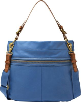 Fossil Explorer Hobo Bright Blue – Fossil Leather Handbags