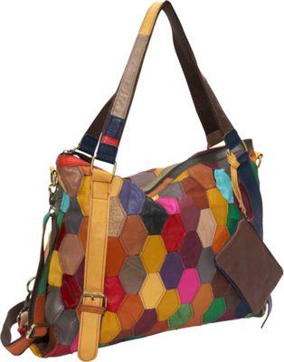 AmeriLeather Miya Tote Rainbow - AmeriLeather Leather Handbags