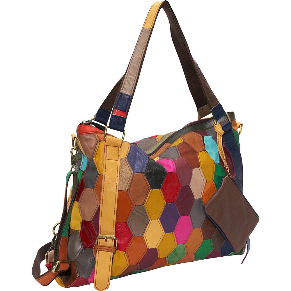 AmeriLeather Miya Tote Rainbow - AmeriLeather Leather Handbags - Handbags, Leather Handbags