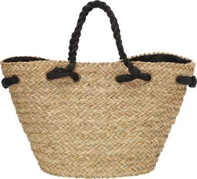 Sun 'N' Sand Hatteras Tote Black - Sun 'N' Sand Straw Handbags