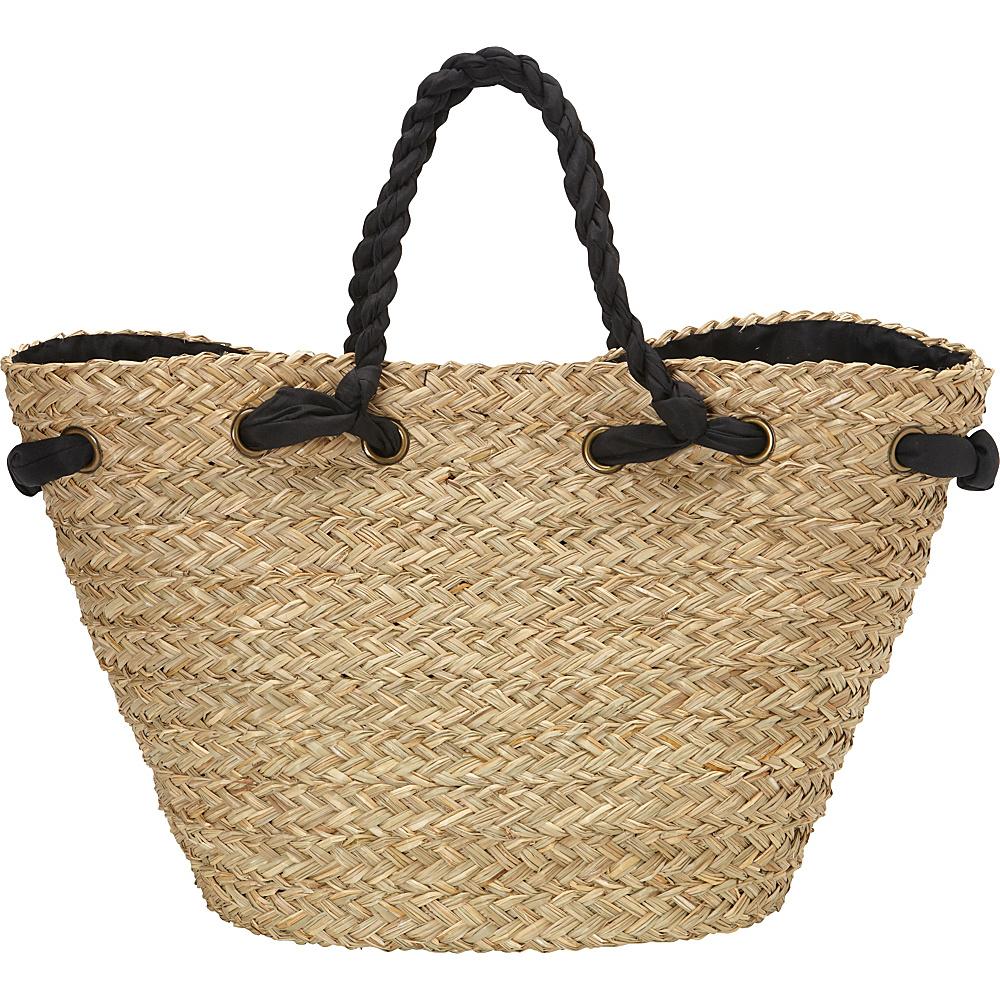 Sun N Sand Hatteras Tote Black Sun N Sand Straw Handbags