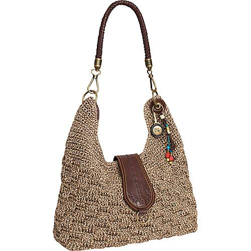 The Sak Handbags Crochet : ... The Sak Bennett Crochet Bucket Brown Static - The Sak Fabric Handbags