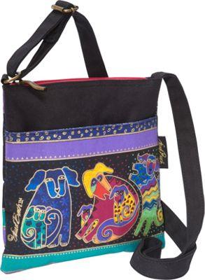 Laurel Burch Dogs and Doggies Cross-Body Multi - Laurel Burch Fabric Handbags