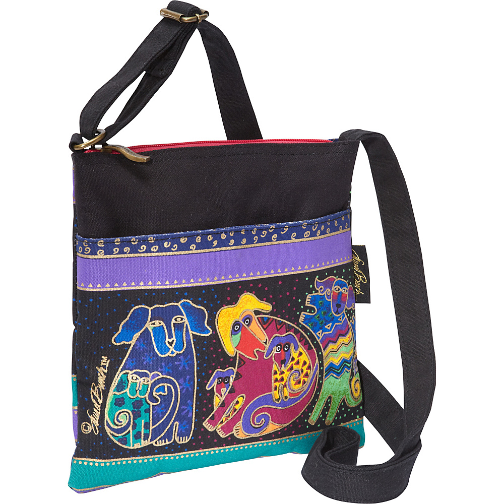 Laurel Burch Dogs and Doggies Cross Body Multi Laurel Burch Fabric Handbags