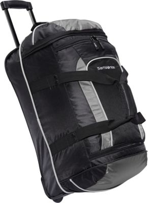 Samsonite Andante Wheeled Duffel Bag - 22 inch Black/Grey - Samsonite Travel Duffels