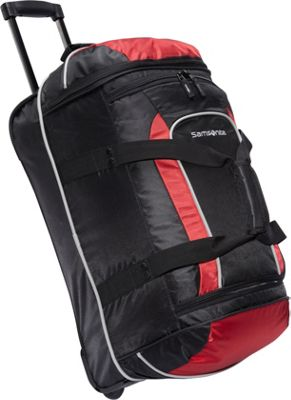 Samsonite Samsonite Andante Wheeled Duffel Bag - 22 inch Black/Red - Samsonite Travel Duffels