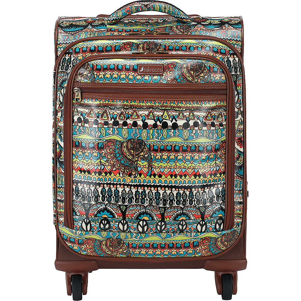 Sakroots Artist Circle Rolling Carry On Natural One World - Sakroots Softside Carry-On - Luggage, Softside Carry-On