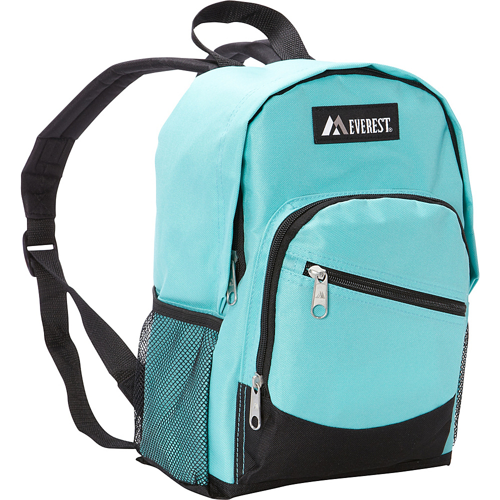 Everest Junior Slant Backpack Aqua Blue/Black - Everest Everyday Backpacks