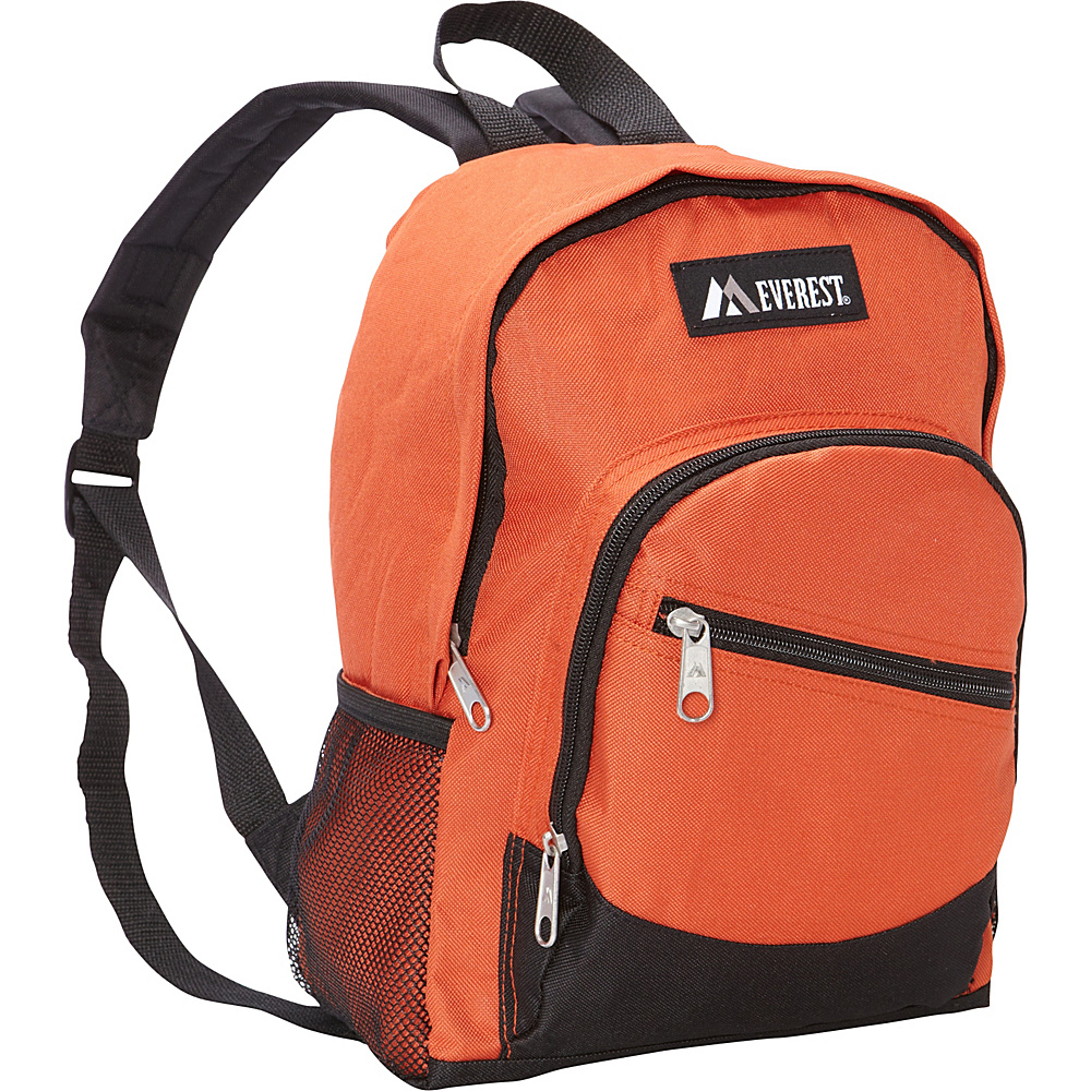Everest Junior Slant Backpack Rust Orange/Black - Everest Everyday Backpacks