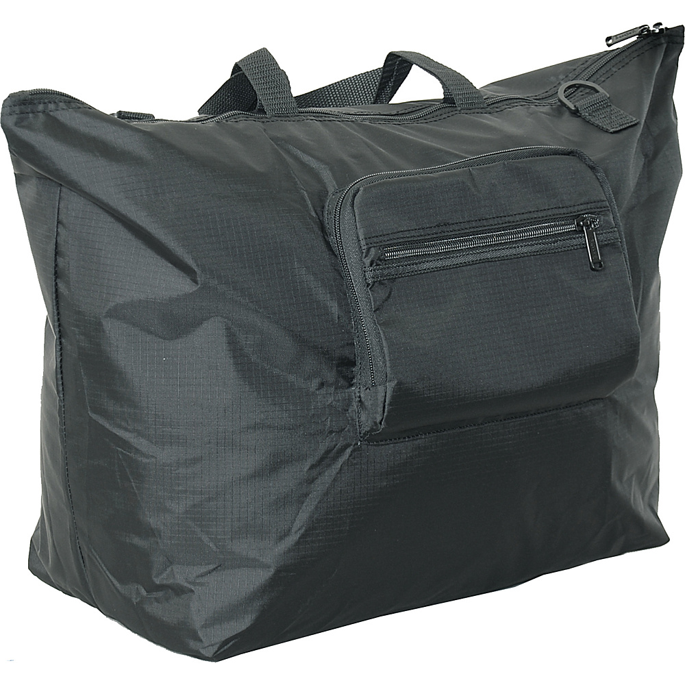 "Netpack 23"" U-zip lightweight tote Black - Netpack Lightweight packable expandable bags"