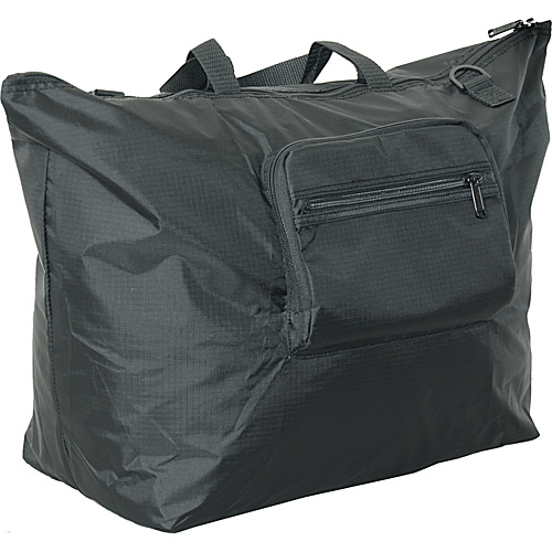"Netpack 23"" U-zip lightweight tote Black - Netpack Lightweight packable expandable bags"