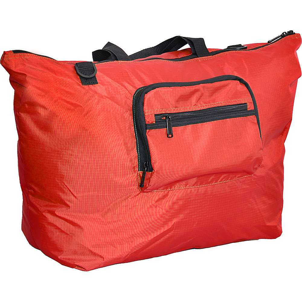 "Netpack 23"" U-zip lightweight tote Red - Netpack Lightweight packable expandable bags"