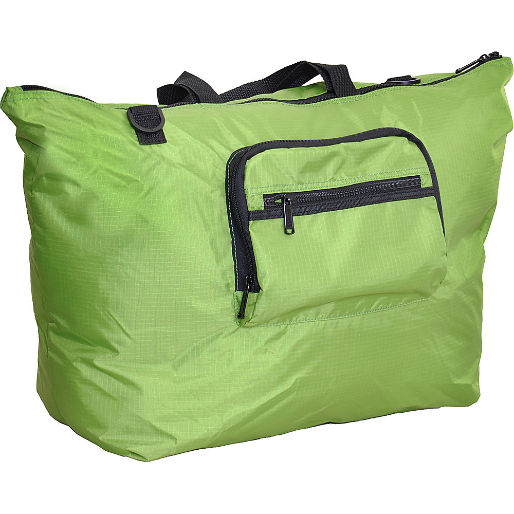 "Netpack 23"" U-zip lightweight tote Green - Netpack Lightweight packable expandable bags"