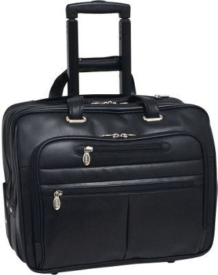 McKlein USA McKlein USA Wrightwood Wheeled 17 inch Laptop Case Black - McKlein USA Wheeled Business Cases