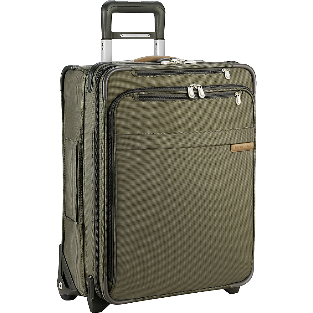 Briggs & Riley Baseline Domestic Carry-On Exp. Upright Olive - Briggs & Riley Softside Carry-On