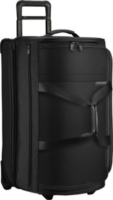 Briggs & Riley Baseline Medium Upright Duffle Black - Briggs & Riley Softside Checked