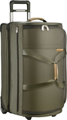 Briggs & Riley Baseline Medium Upright Duffle Olive - Briggs & Riley Softside Checked