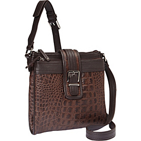 Croco Structure X-Body Organizer Brown/Brown