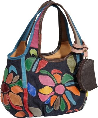 AmeriLeather Avie Mini Handbag Rainbow - AmeriLeather Leather Handbags