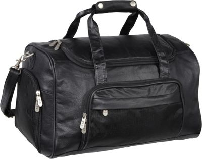 AmeriLeather APC Leather Duffel/Sports Bag Black - AmeriLeather Travel Duffels