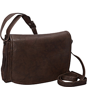 Medium Size Front Flap Organizer Bag BROWN