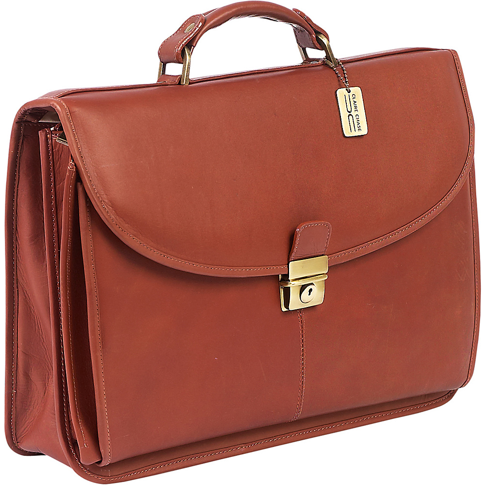 ClaireChase Lawyers Briefcase Saddle - ClaireChase Non-Wheeled Business Cases