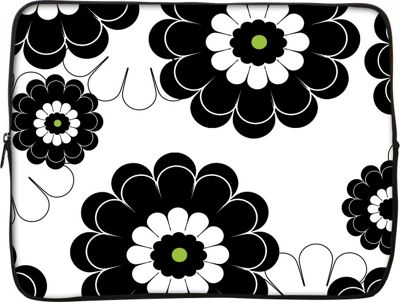 Designer Sleeves 13 inch Laptop Sleeve by Got Skins? & Designer Sleeves Black Lime Floral - Designer Sleeves Electronic Cases