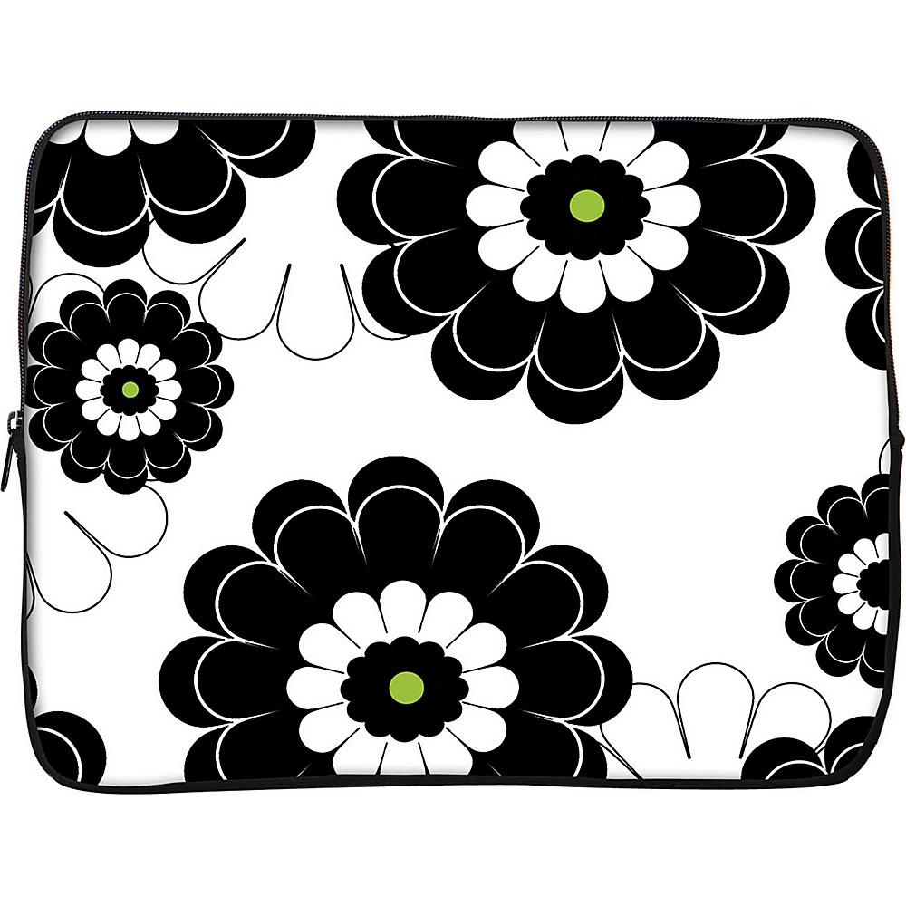 Designer Sleeves 13 Laptop Sleeve by Got Skins? Designer Sleeves Black Lime Floral Designer Sleeves Electronic Cases
