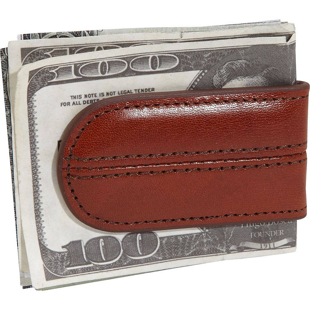 Bosca Old Leather Money Clip Old Leather Amber (27) - Bosca Men's Wallets