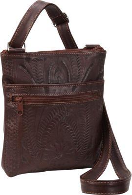 Ropin West Cross Over Bag Brown - Ropin West Leather Handbags