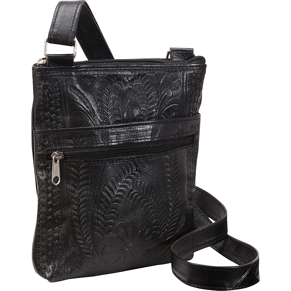 Ropin West Cross Over Bag Black Ropin West Leather Handbags